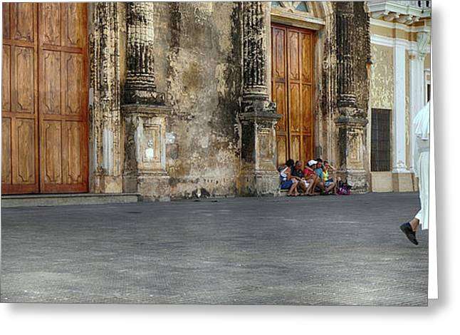 Iglesia De La Merced Church, Granada Greeting Card by Panoramic Images