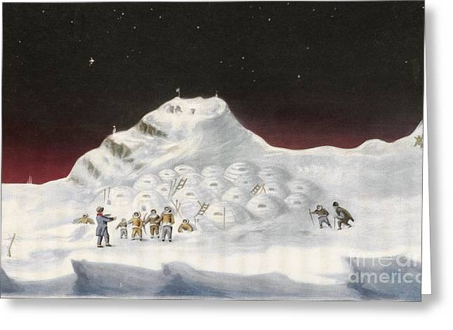 Igloos In The Canadian Arctic, 1830s Greeting Card