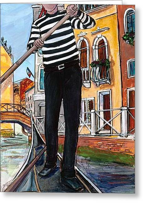 Greeting Card featuring the painting Igor by TM Gand