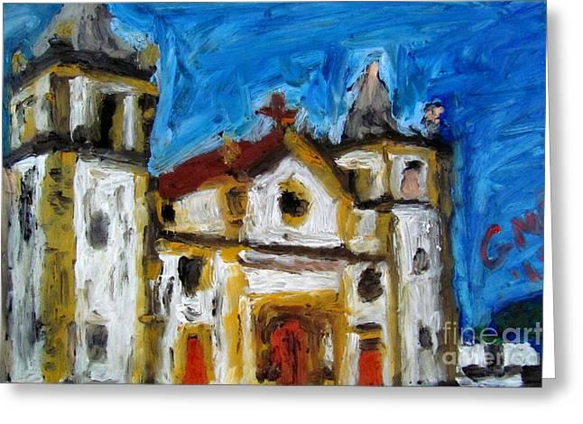 Igreja Da Se De Olinda Greeting Card by Greg Mason Burns