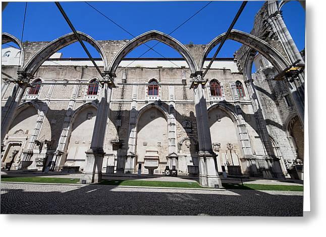 Igreja Do Carmo Church Ruins In Lisbon Greeting Card by Artur Bogacki