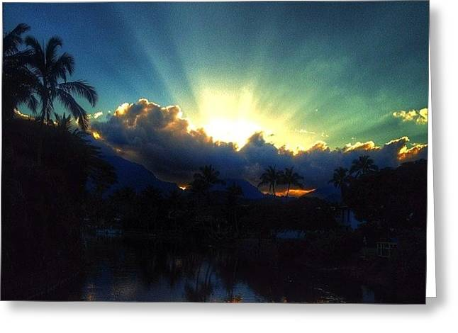 #igtube #igaddict #hawaiistagram Greeting Card by Brian Governale