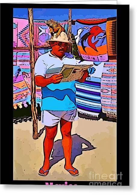 Iguana Man The Poster Greeting Card by John Malone
