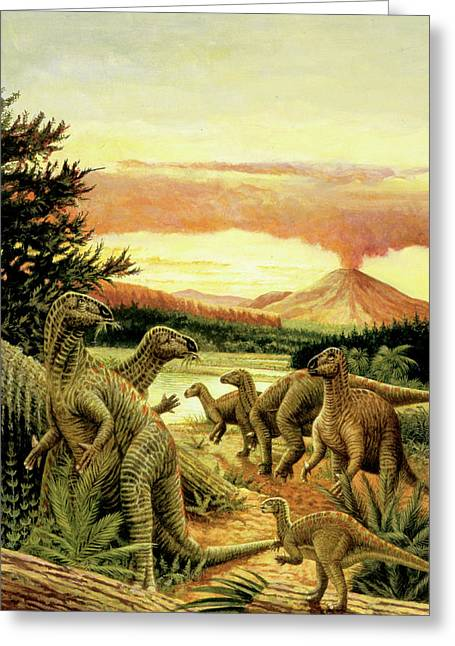 Iguanodon Dinosaurs Greeting Card by Deagostini/uig