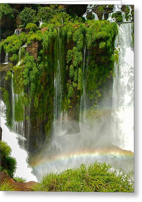 Greeting Card featuring the photograph Iguazu Falls By Mike-hope by Michael Hope