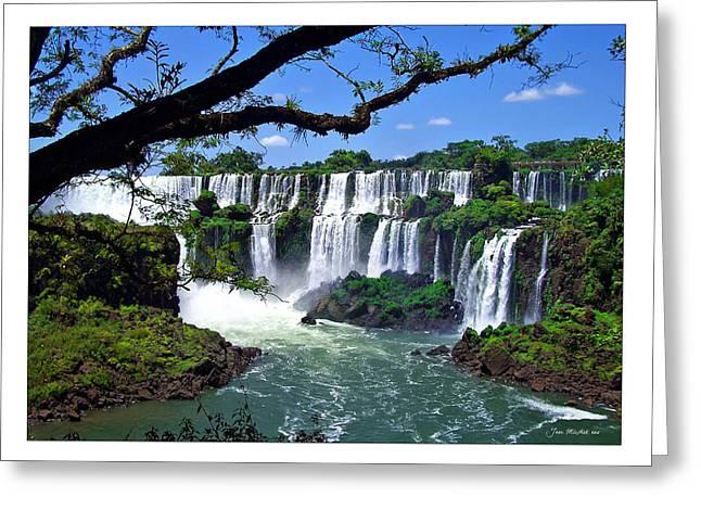 Iguazu Falls In Argentina Greeting Card