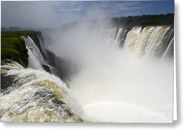 Iguazu Falls South America 18 Greeting Card by Bob Christopher