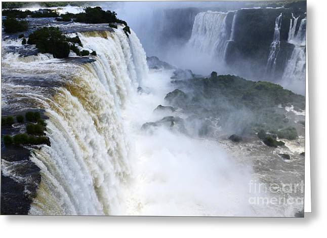 Iguazu Falls South America 5 Greeting Card by Bob Christopher