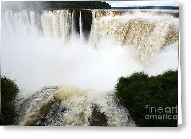 Iguazu Falls South America 6 Greeting Card by Bob Christopher