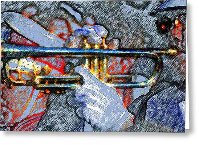 The Trumpet Player Greeting Card