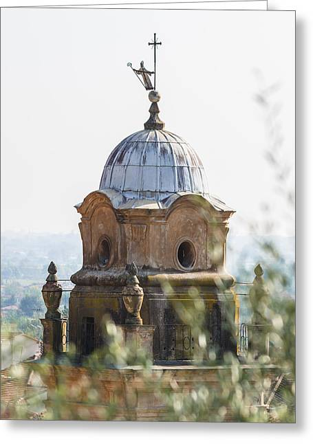 The Bell Tower Of Sant'agostino - Pietrasanta Greeting Card