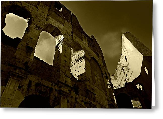 Il Colosseo Greeting Card by Micki Findlay