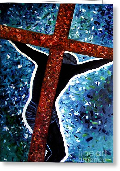 Il Crocifisso - The Crucifix Greeting Card by Ze  Di