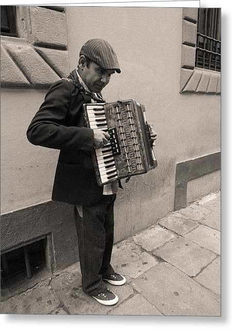 Il Fisarmonicista Greeting Card