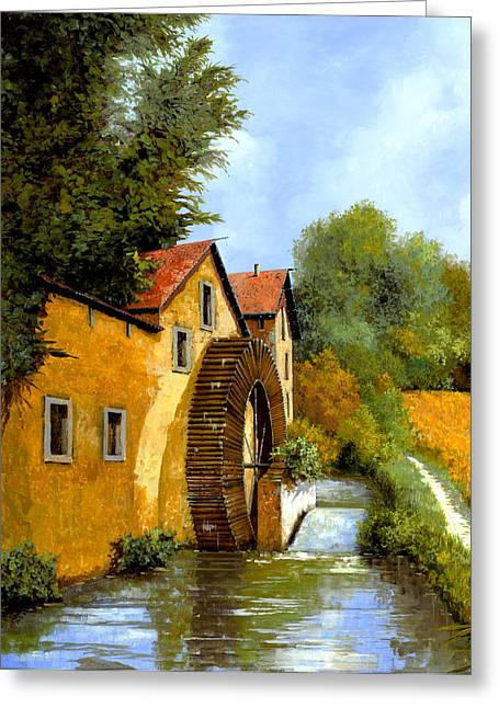 Il Mulino Ad Acqua Greeting Card by Guido Borelli