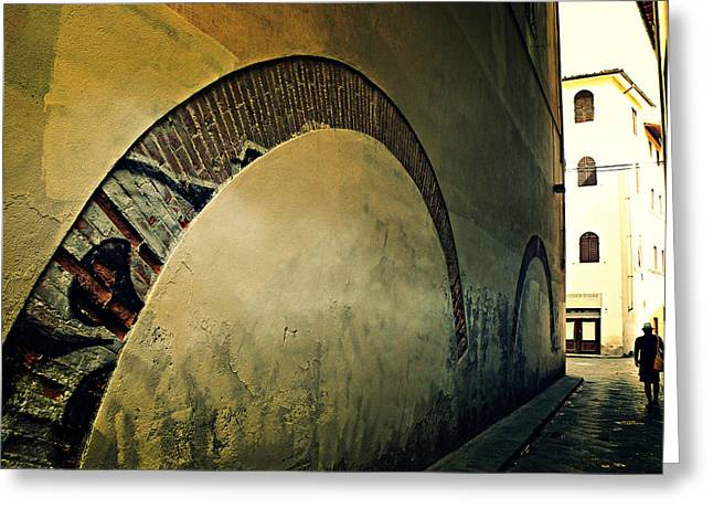 Greeting Card featuring the photograph Il Muro  by Micki Findlay