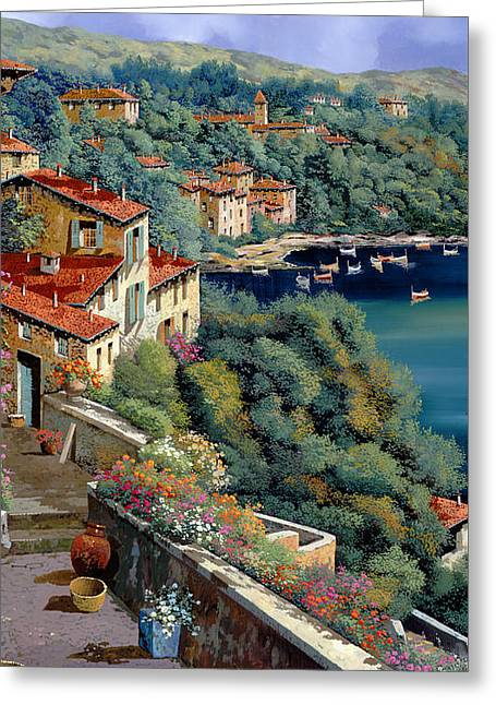 Il Promontorio Greeting Card by Guido Borelli