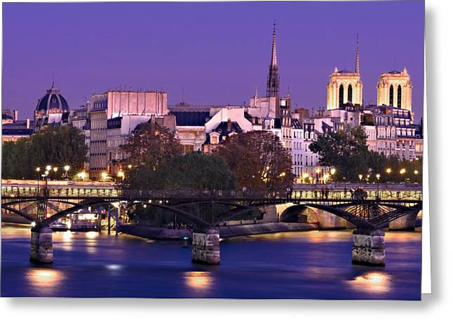 Ile De La Cite And Pont Des Arts / Paris Greeting Card