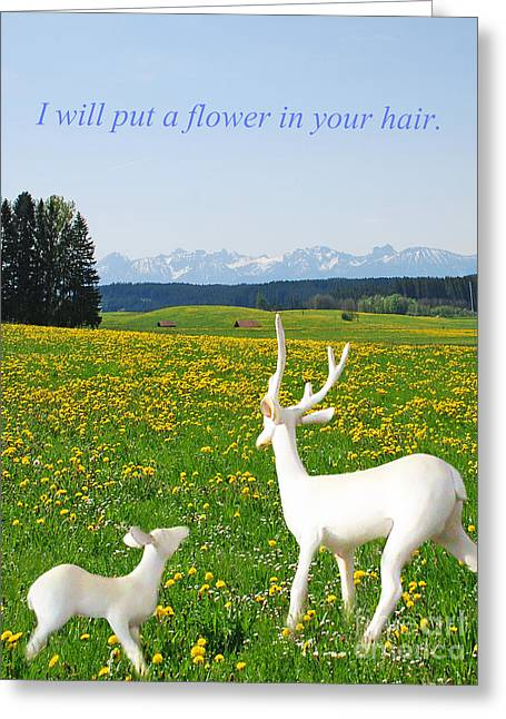 I'll Put A Flower Greeting Card