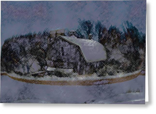 Illinois Barn Rock Wall Greeting Card by Dennis Buckman