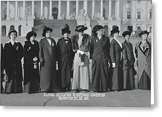Illinois Delegation To Suffrage Greeting Card