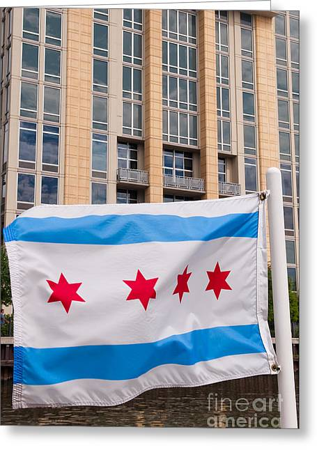 Illinois Flag Greeting Card
