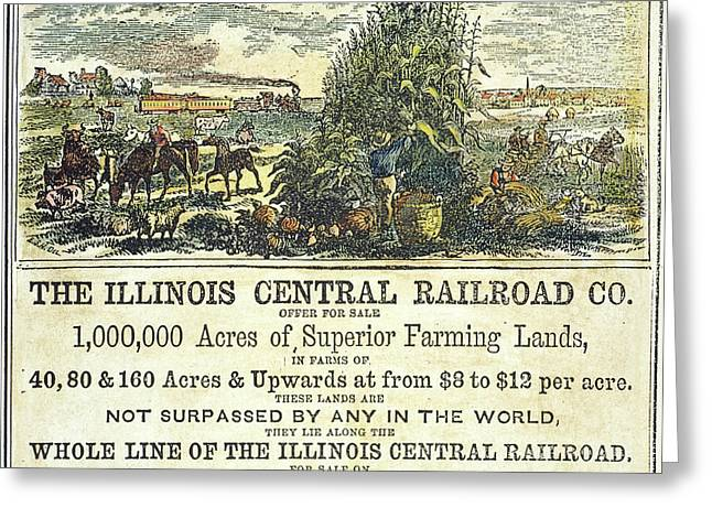 Illinois Railroad Company Greeting Card by Granger