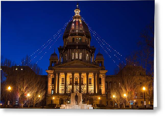 Illinois State Capitol Greeting Card by Steve Gadomski