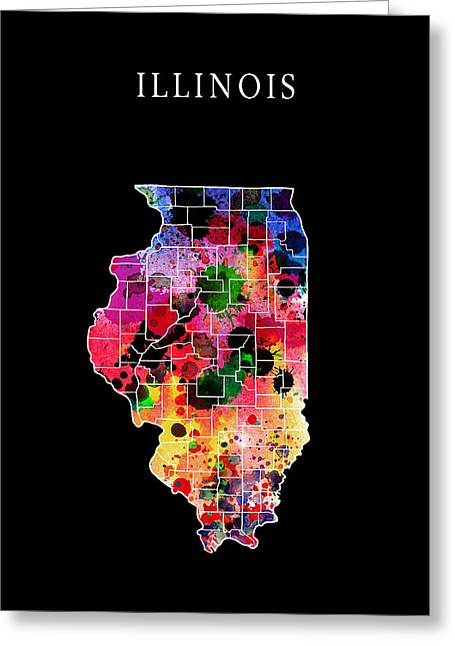Illinois State Greeting Card by Daniel Hagerman