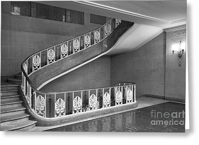 Illinois State University Williams Hall Stairway Greeting Card by University Icons