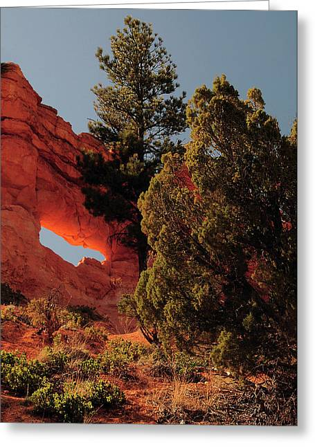 Illuminated Arch In Bryce Canyon Greeting Card by Michel Hersen