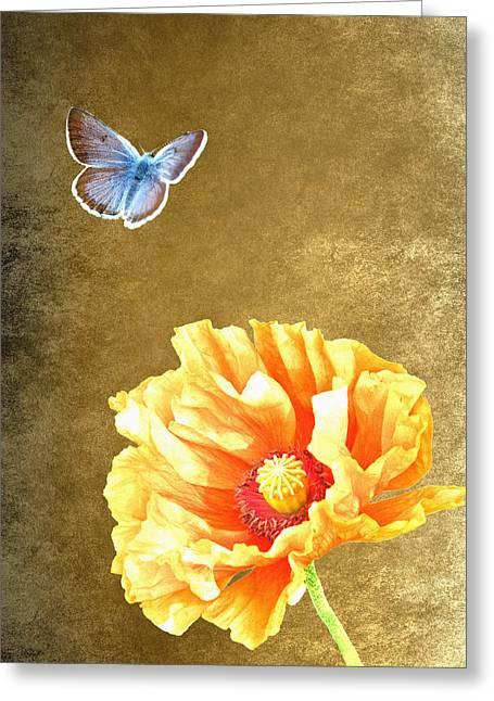 Illuminated Garden Greeting Card by Sharon Lisa Clarke