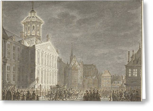 Illuminati Of The City Hall For William V And Wilhelmina Greeting Card by Quint Lox