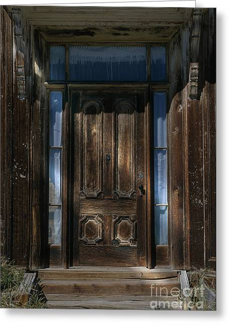 Illuminating The Past - Bodie Greeting Card by Sandra Bronstein