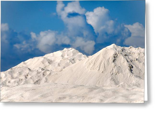 Illusion. White Dunes Of Coral Sand Greeting Card by Jenny Rainbow