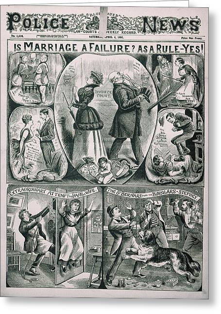 Illustrated Police News Greeting Card by British Library