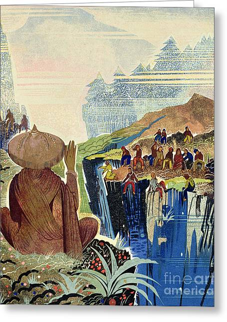 Illustration For Kim By Rudyard Kipling Greeting Card