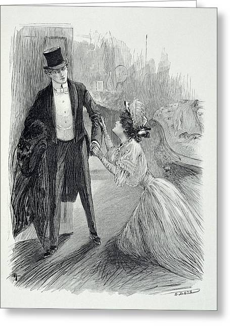 Illustration From The Picture Of Dorian Greeting Card by Paul Thiriat