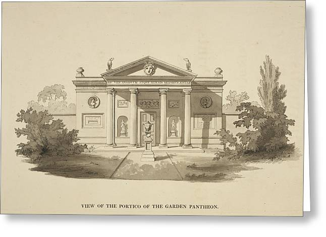 Illustration Of Classical-style Buildings Greeting Card by British Library