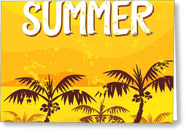 Illustration Summer Greeting Card