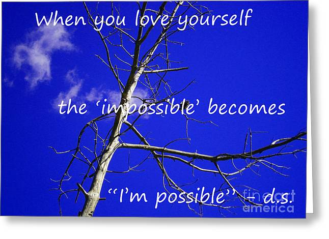 I'm Possible Greeting Card by Drew Shourd