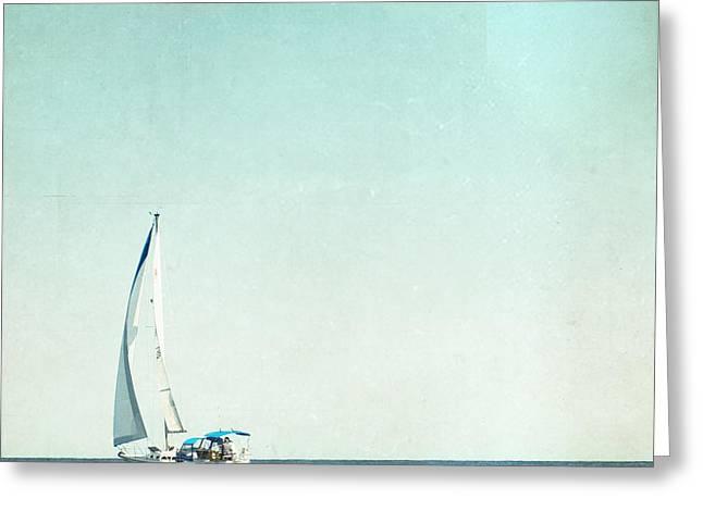 I'm Sailing Away Greeting Card by Carolyn Cochrane