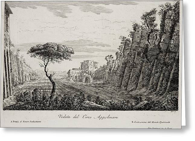 Image Of Italian Countryside Around Rome. Greeting Card by British Library
