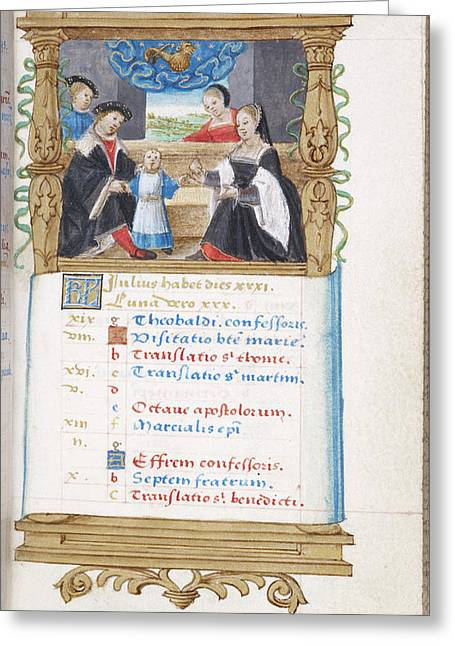 Image Of Noble Family With Young Child Greeting Card by British Library