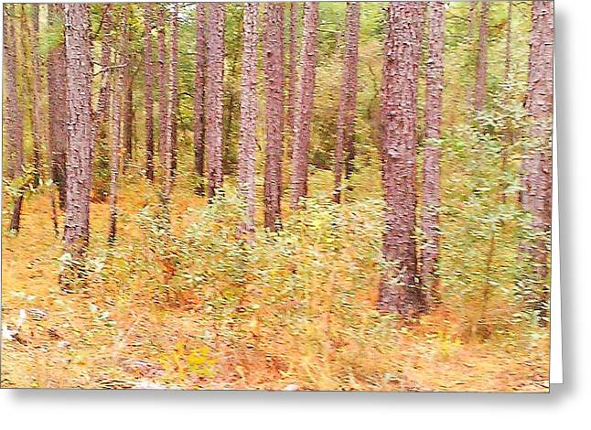 Imaginary Forest Greeting Card by Fortunate Findings Shirley Dickerson