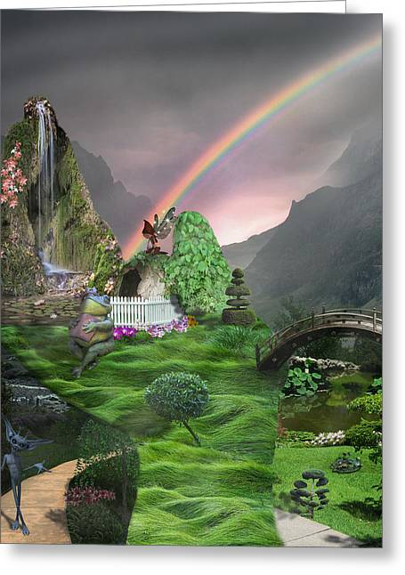 Imagination Fantasy Land Greeting Card by Becca Buecher