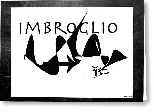 Greeting Card featuring the digital art Imbroglio by Karo Evans