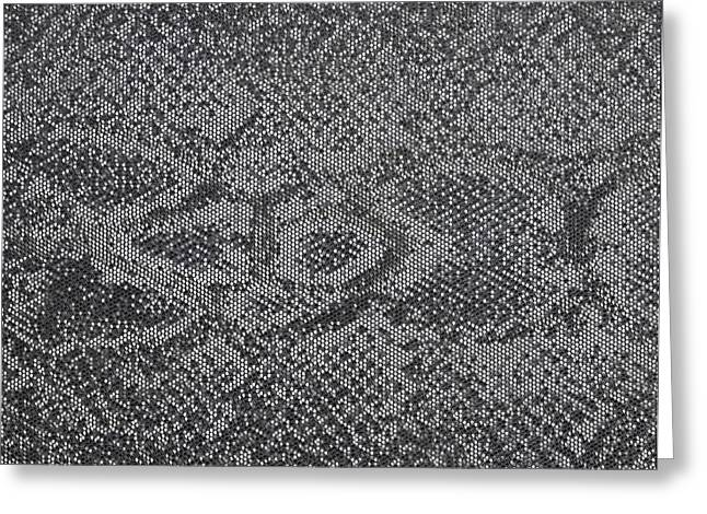 Imitation Snake Skin Fabric Greeting Card