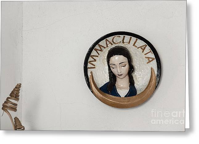 Immaculata Greeting Card by Agnieszka Kubica