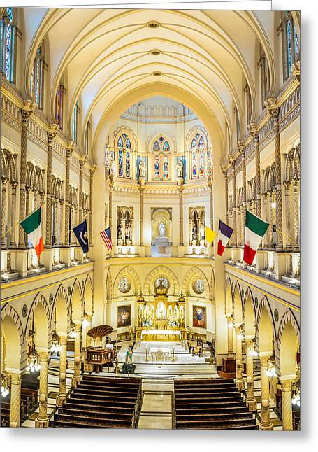 Immaculate Conception Jesuit Church - New Orleans Greeting Card by Andy Crawford